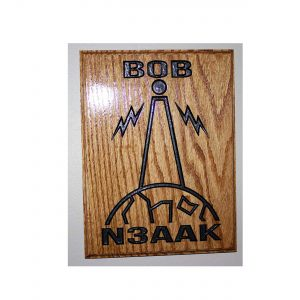 Personalized Ham Radio Wood Plaque