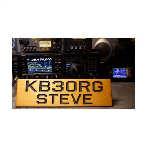 Personalized Ham Radio Desk Plaque